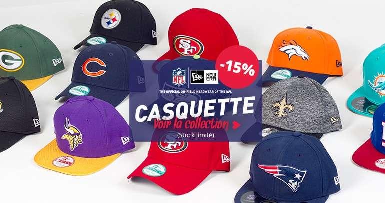 -15% sur toutes les casquettes