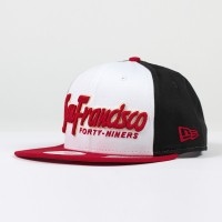 Casquette New Era 9FIFTY snapback scrip NFL San Francisco 49ers - Touchdown shop