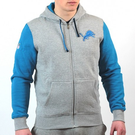 Sweat à capuche zippé New Era team fz NFL Detroit Lions - Touchdown shop