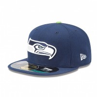 Casquette New Era 59FIFTY Fitted authentic on field NFL Seattle Seahawks - Touchdown shop