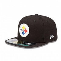 Casquette New Era 59FIFTY Fitted authentic on field black NFL Pittsburgh Steelers