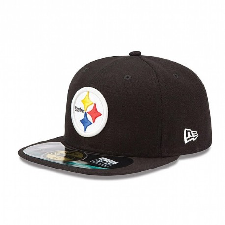Casquette New Era 59FIFTY Fitted authentic on field black NFL Pittsburgh Steelers - Touchdown shop