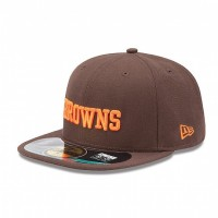 Casquette New Era 59FIFTY Fitted authentic on field NFL Cleveland Browns - Touchdown shop