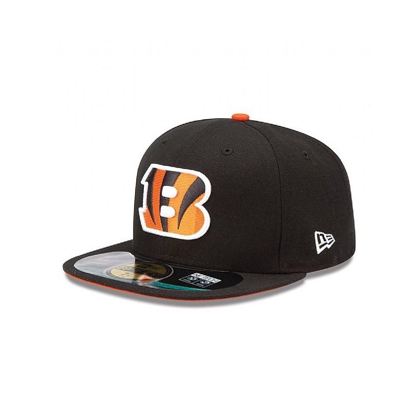 code promo da1e4 f2c34 Casquette New Era 59FIFTY Fitted authentic on field NFL Cincinnati Bengals