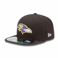 Casquette New Era 59FIFTY Fitted authentic on field NFL Baltimore Ravens - Touchdown shop