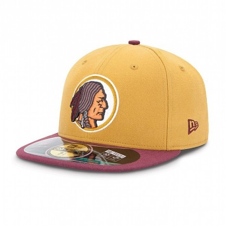 Casquette New Era 59FIFTY Fitted authentic on field NFL Washington Redskins vintage - Touchdown shop