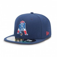 Casquette New Era 59FIFTY Fitted authentic on field NFL New England Patriots vintage - Touchdown shop