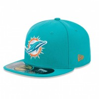 Casquette New Era 59FIFTY Fitted authentic on field NFL Miami Dolphins