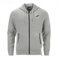 Sweat à capuche zippé New Era Lgh NFL Miami Dolphins