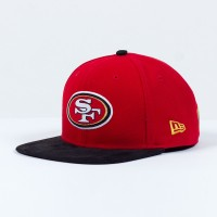 Casquette New Era 9FIFTY snapback SB 50 Team suede NFL San Francisco 49ers