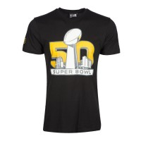 T-shirt New Era SuperBowl event NFL noir