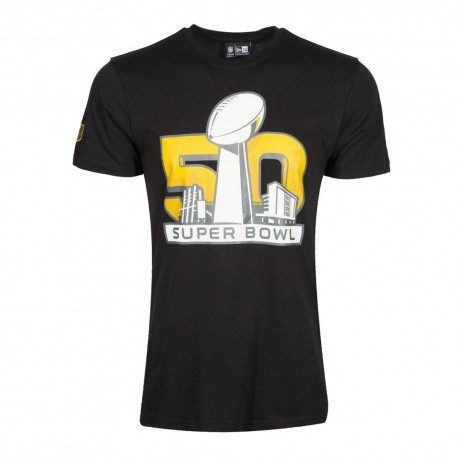 T-shirt New Era SuperBowl event NFL noir - Touchdown Shop