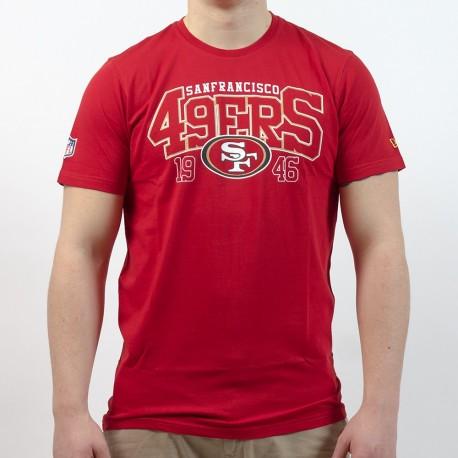 T-shirt New Era team arch NFL San Francisco 49ers - Touchdown Shop