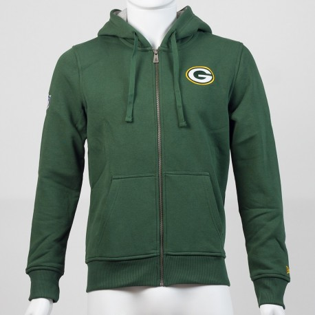 Sweat à capuche zippé New Era Hdy NFL Green Bay Packers - Touchdown Shop