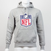 Sweat à capuche New Era team logo NFL gris