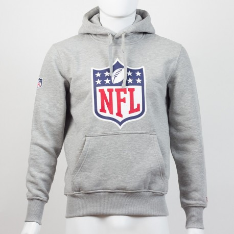 Sweat à capuche New Era team logo NFL gris - Touchdown Shop