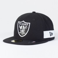 Casquette Oakland Raiders NFL Side block 59FIFTY Fitted New Era