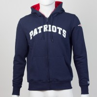 Sweat à capuche zippé New England Patriots NFL team apparel New Era