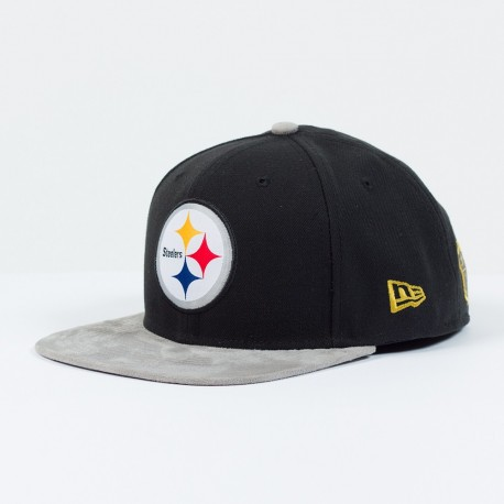 Casquette New Era 9FIFTY snapback SB 50 Team suede NFL Pittsburgh Steelers - Touchdown Shop