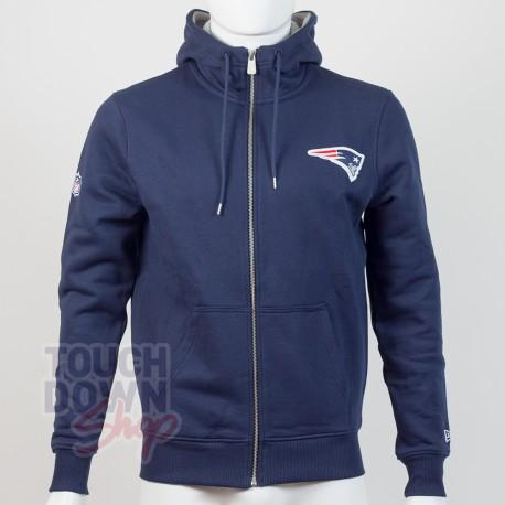 Sweat à capuche zippé New England Patriots NFL FZ team apparel New Era - Touchdown Shop