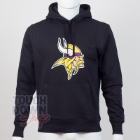 Sweat à capuche New Era team logo NFL Minnesota Vikings - Touchdown Shop