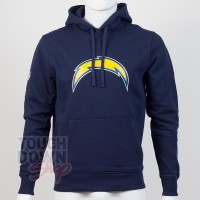 Sweat à capuche New Era team logo NFL Los Angeles Chargers - Touchdown Shop