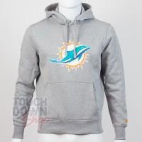 Sweat à capuche New Era team logo NFL Miami Dolphins