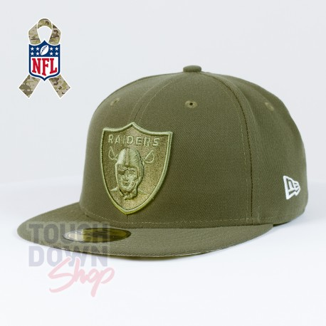 Casquette Oakland Raiders NFL Salute To Service 59FIFTY Fitted New Era - Touchdown Shop