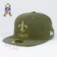 Casquette New Orleans Saints NFL Salute To Service 59FIFTY Fitted New Era - Touchdown Shop