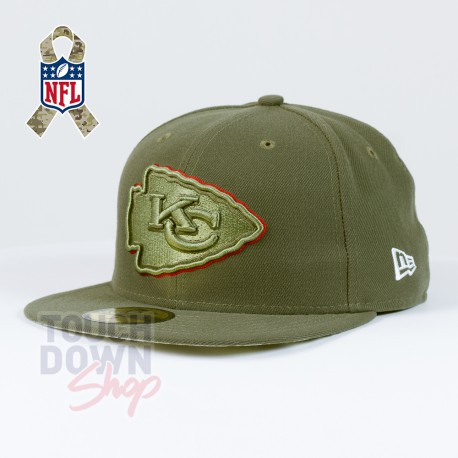 Casquette Kansas City Chiefs NFL Salute To Service 59FIFTY Fitted New Era - Touchdown Shop