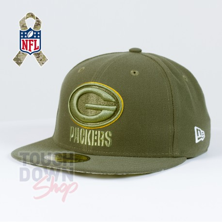 Casquette Green Bay Packers NFL Salute To Service 59FIFTY Fitted New Era - Touchdown Shop