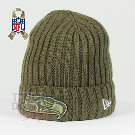 Bonnet Seattle Seahawks NFL Salute To Service New Era - Touchdown Shop