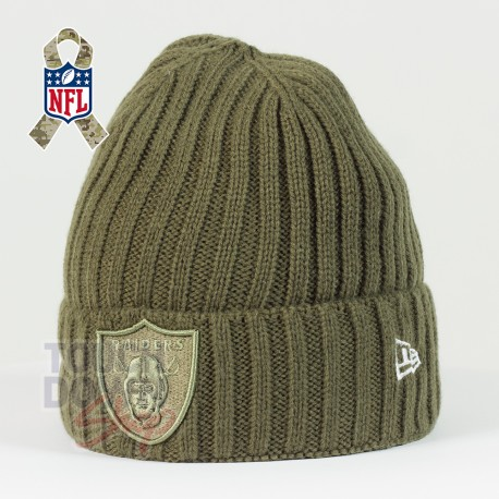 Bonnet Oakland Raiders NFL Salute To Service New Era - Touchdown Shop