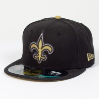 Casquette New Era 59FIFTY Fitted authentic on field NFL New Orleans Saints - Touchdown shop