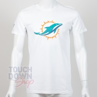 T-shirt New Era team logo NFL Miami Dolphins blanc