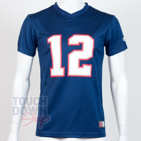 Jersey supporter Tom Brady 12 New england Patriots NFL Moro N&N Majestic - Touchdown Shop