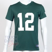 Jersey supporter Aaron Rodgers 12 Green Bay Packers NFL Moro N&N Majestic