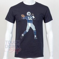 T-shirt Tom Brady 12 New England Patriots NFL Silhouette N&N Majestic - Touchdown Shop