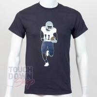 T-shirt Julian Edelman 11 New England Patriots NFL Silhouette N&N Majestic - Touchdown Shop