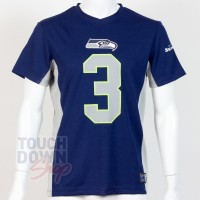 Jersey supporter Russell Wilson 3 Seattle Seahawks NFL Moro N&N 2019 - Touchdown Shop