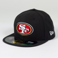 Casquette New Era 59FIFTY Fitted authentic on field Black NFL San Francisco 49ers