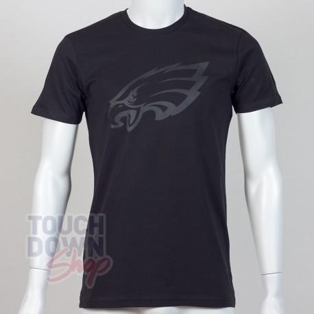 T-shirt Philadelphia Eagles NFL tonal black New Era - Touchdown Shop