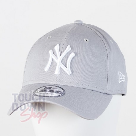 Casquette NY New York Yankees MLB league basic 9FORTY New Era Gris - Touchdown Shop