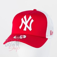 Casquette NY New York Yankees MLB clean trucker 9FORTY New Era rouge