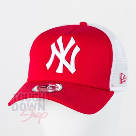 Casquette NY New York Yankees MLB clean trucker 9FORTY New Era rouge - Touchdown Shop
