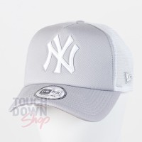 Casquette NY New York Yankees MLB clean trucker 9FORTY New Era gris