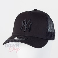 Casquette NY New York Yankees MLB clean trucker 9FORTY New Era full noire
