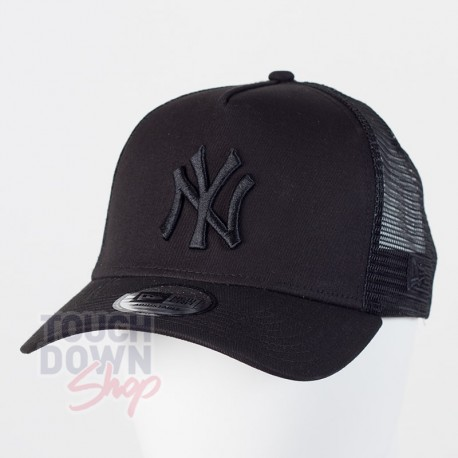 Casquette NY New York Yankees MLB clean trucker 9FORTY New Era full noire - Touchdown Shop