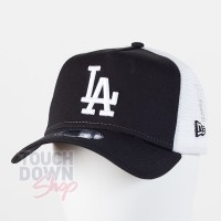 Casquette LA Los Angeles Dodgers MLB clean trucker 9FORTY New Era Noire