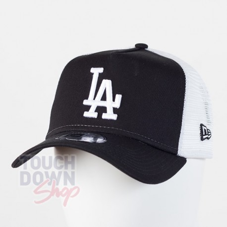 Casquette LA Los Angeles Dodgers MLB clean trucker 9FORTY New Era Noire - Touchdown Shop